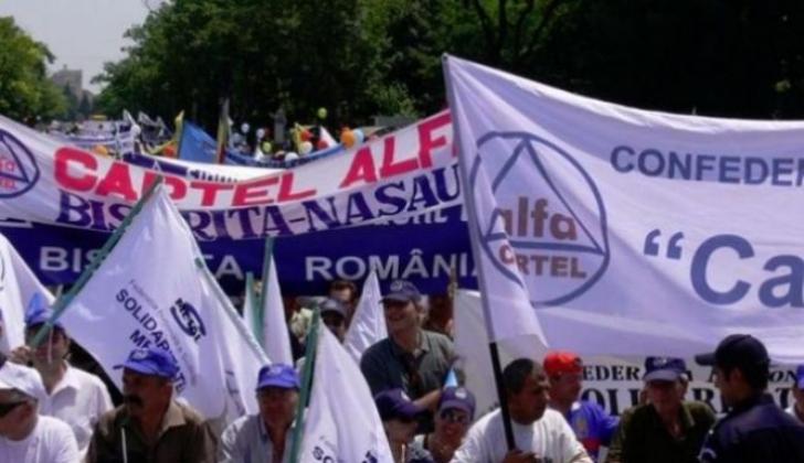 Protest la Guvern: 2.000 de sindicaliști de la Cartel Alfa cer modificarea Legii dialogului social