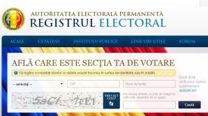 Alegeri prezidenţiale 2014. Poţi afla online secţia ta de votare cu ajutorul Registrului Electoral