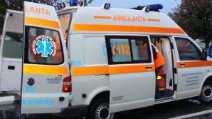 ACCIDENT ÎN LANŢ în Argeş: A fost implicată ţşi o AMBULANŢĂ