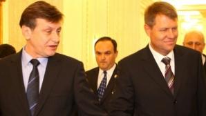 IOHANNIS, DECLARAŢIE INCENDIARĂ despre sprijinul lui Crin Antonescu