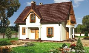 Casa Laguna, potrivită pentru terenurile micuţe de la periferiile marilor oraşe. Foto: archeton.ro
