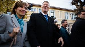 Klaus Iohannis, alături de soţia sa, Carmen. Sursa: Ovidiu Dumitru Matiu/Inquamphotos.com