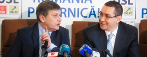 Crin Antonescu și Victor Ponta, sursa foto:Ovidiu Micsik/http://inquamphotos.com/