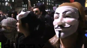 Manifestaţie Anonymous la Londra