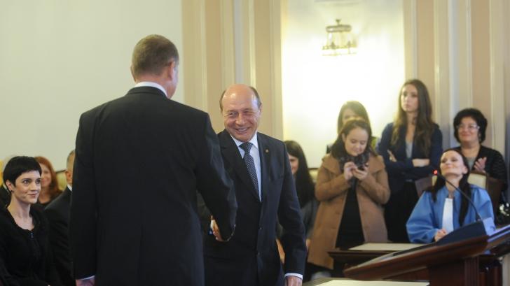 Imagini inedite cu BĂSESCU și IOHANNIS de la ședința de validare de la CCR