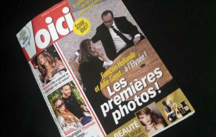 Francois Hollande şi Julie Gayet, primele imagini de la Palatul Elysee