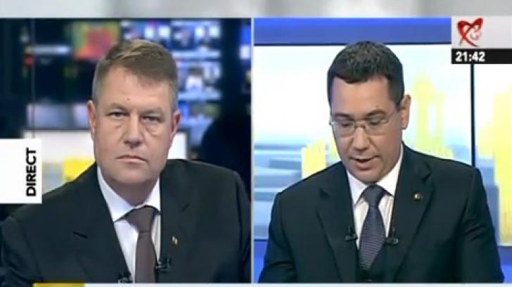 Replica cu care Klaus Iohannis a vrut să-l lase mut pe Victor Ponta