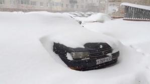 Furtună de zăpadă violentă în Rusia