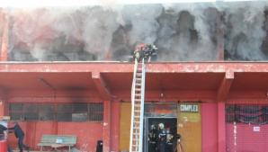 Incendiu la un centru comercial din Suceava. Foto: svnews.ro.