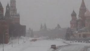 HAOS în Moscova, din cauze unei furtuni de zăpadă