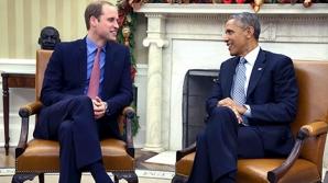 Premieră la Casa Albă: Barack Obama l-a primit pe Prințul William în Biroul Oval