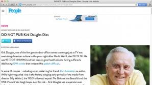 "Kirk Douglas, ""UCIS"" de revista People"