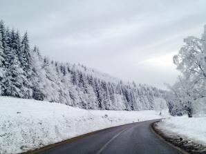 <p>Iarnă de basm, pe culoarul Rucăr-Bran. Foto: Silviu S.</p>