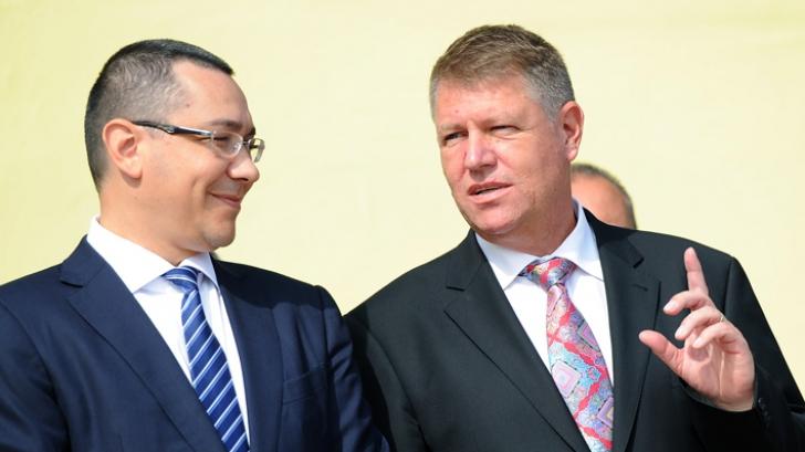 Întâlnire Iohannis - Ponta la ora 12 la Cotroceni