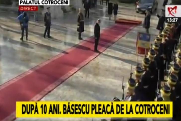 Traian Băsescu a plecat de la Cotroceni, după 10 ani