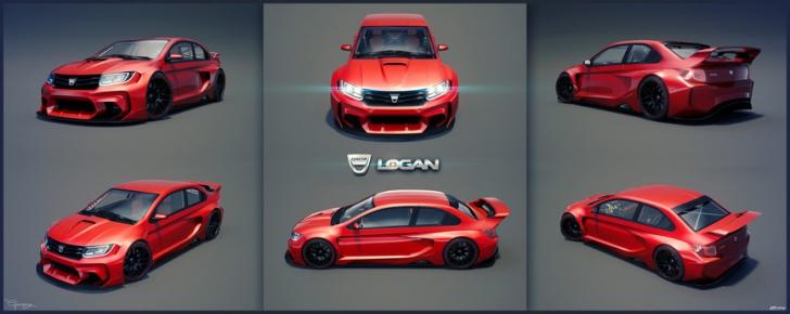 DACIA LOGAN concept 2015: Cum ar putea arăta Loganul de curse