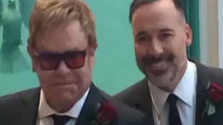 Elton John şi David Furnish, în ziua căsătoriei