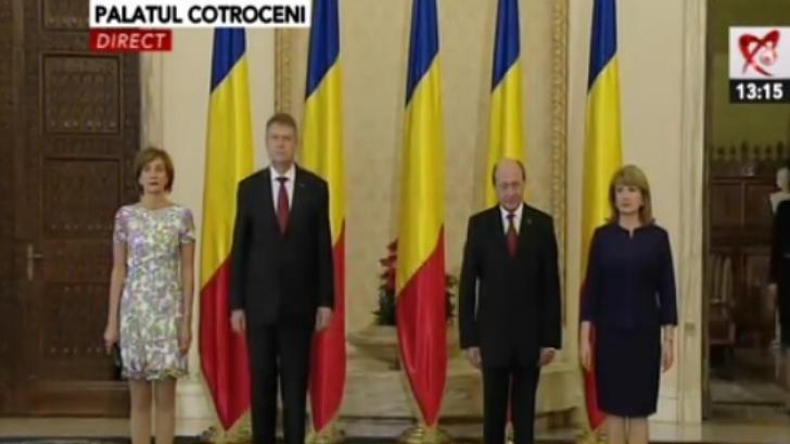 Carmen şi Klaus Iohannis, alături de Maria şi Traian Băsescu