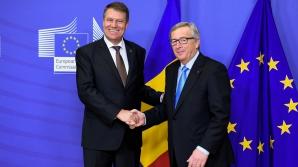 Întâlnire privată Iohannis-Juncker, după discuțiile oficiale de la Bruxelles