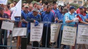 Protest la Ministerul Muncii