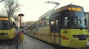 Circulaţia tramvaielor liniei 41, BLOCATĂ