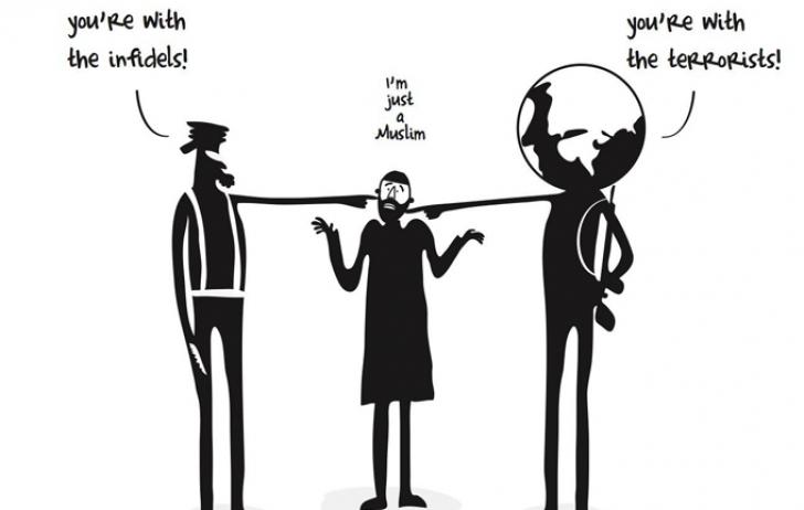 Caricatura din Al Jazeera care însoțește articolul