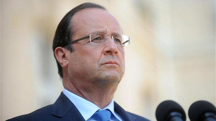 <p>Francois Hollande, discuție cu Angela Merkel</p>