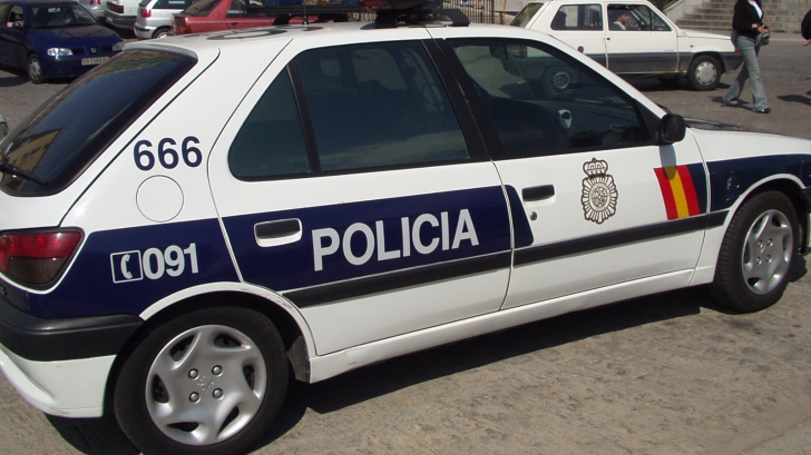 Mașină de poliție Spania