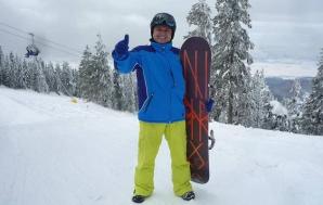 Costel Comana, pasionat de schi şi fotbal