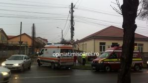 Accident cumplit în Timişoara. A intrat cu maşina într-o şcoală: un copil, rănit / Foto: opiniatimisoarei.ro