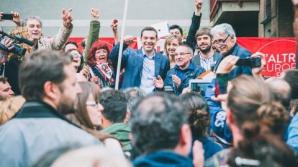 Miting de amploare la Atena, pentru susţinerea formaţiunii Syriza