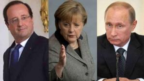 <p>Întrevederea Putin-Merkel-Hollande s-a încheiat. Textul unui plan de pace este în curs de pregătire</p>