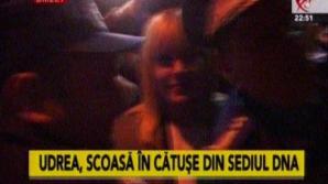 Elena Udrea a fost reţinută. Momentul în care a ieşit din sediul DNA