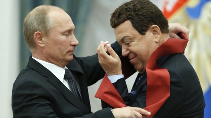 Vladimir Putin şi Iosif Kobzon