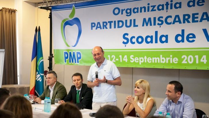 Traian Băsescu s-a întâlnit cu Aurelian Pavelescu, pentru a discuta despre alianța PMP-PNȚCD