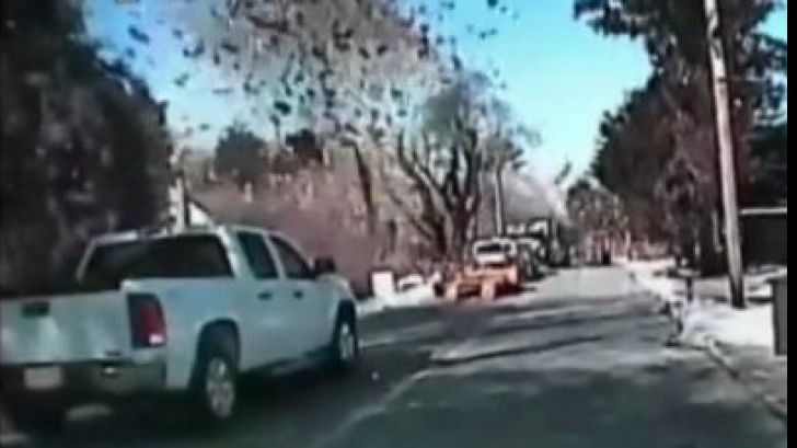 Explozie puternică. O casă a fost aruncată în aer