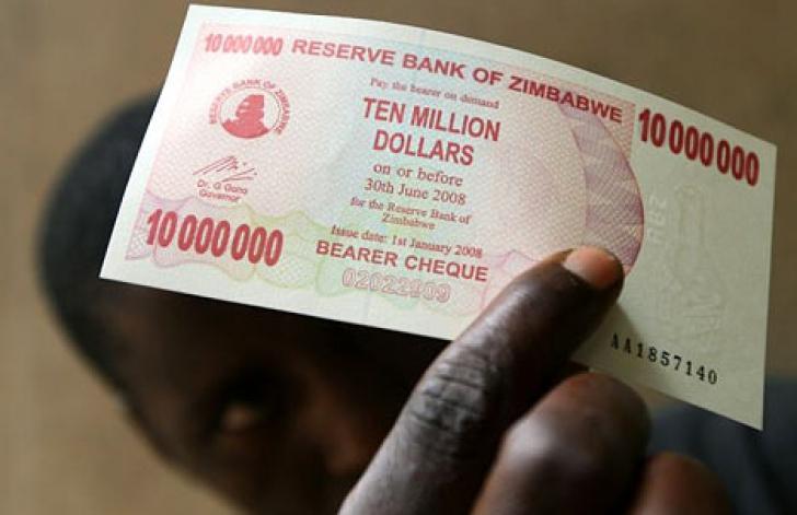 Zimbabwe, bancnota de 10 milioane dolari