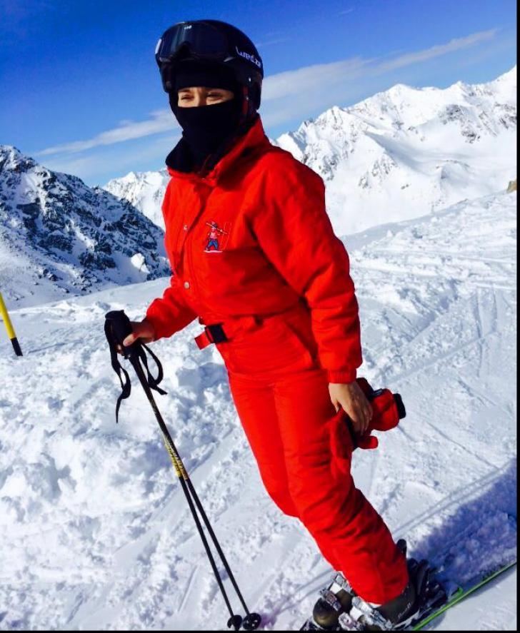 Andreea Esca la schi
