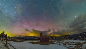 Aurora Boreală, în Harghita sursa: Attila Munzlinger