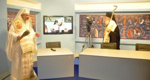 Sfințirea studiourilor Trinitas TV