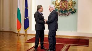Ministrul german de Externe şi preşedintele Bulgariei, Rosen Plevneliev