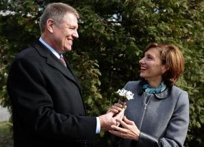 Klaus Iohannis şi soţia sa, Carmen Iohannis, de 1 martie