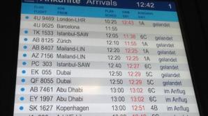 Avion prăbușit Franța. Tabela de sosiri din Dusseldorf
