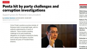 European Voice: Autoritatea lui Victor Ponta este subminată de o serie de eşecuri