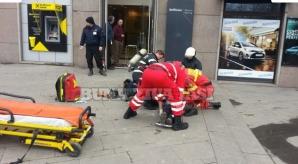 """Un ieşean şi-a dat foc în sediul unei băncii Raiffeisen: """"Mi-aţi luat casa!"""""""