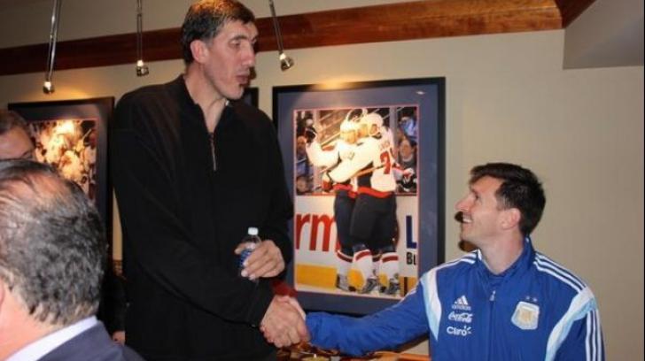 Lionel Messi, întâlnire cu cel mai mare român