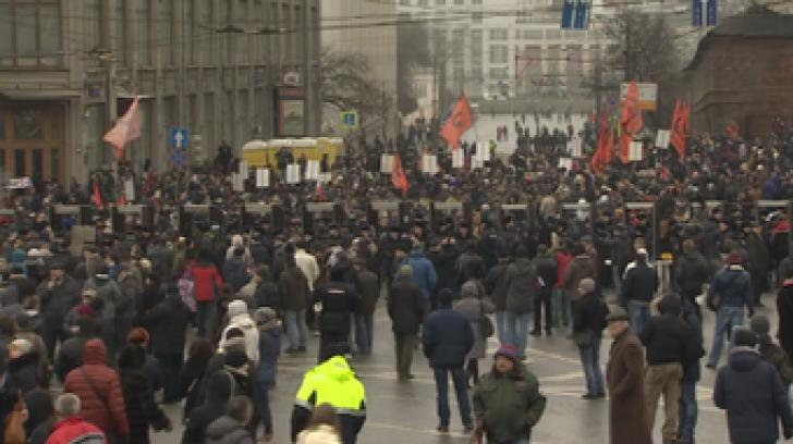 70.000 de ruși la mitingul din centrul Moscovei în memoria lui Boris Nemțov
