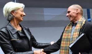 Șefa FMI șiVaroufakis, ministrul de Finanțe al Greciei