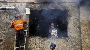 Explozie puternică la Doneţk, într-o staţie de autobuz