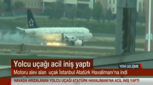 Aterizare de urgenţă la Istanbul, după ce unul din motoarele unui avion a luat foc